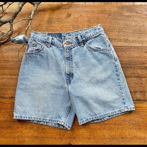 Vintage Orange Tab Levi's High Rise Shorts